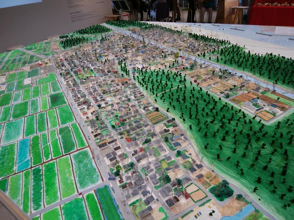 震災前の荒浜地区まちの模型